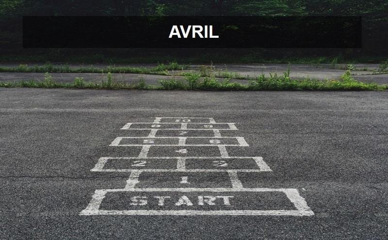 marelle dessiné sur le sol représente chiffres du mois